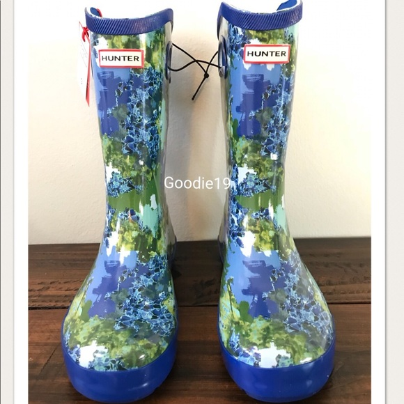 Hunter Shoes For Target Boots Blue Patterned Rain Boots Poshmark Inspiration Patterned Rain Boots